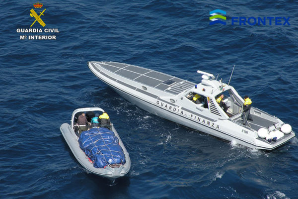inflatable boat carrying marijuana