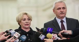 Romanian Prime Minister Viorica Dancila and leader of the governing Social Democrats Liviu Dragnea