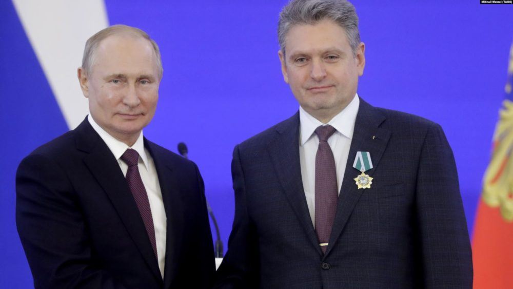 Vladimir Putin and Nikolai Malinov, Moscow, November 4, 2019